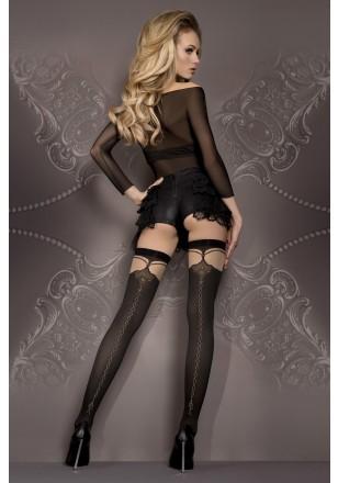 Bas opaque noir couture noire or