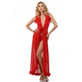 Robe longue sexy voile stretch.