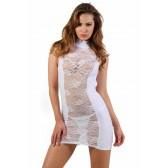 Robe blanche moulante dos nu