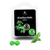 Boules Bresiliennes aromatisées Menthe X2