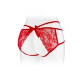 Culotte dentelle rouge ouverte Nadia