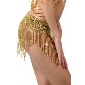 Mini Jupe en Perles doré