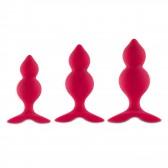 BibiTwins Boite de 3 plugs Rouge