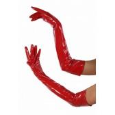 Gant Long Vinyle Rouge