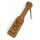 Tapette en Bambou pyrogravé LOVE
