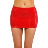 Mini jupe en vinyle rouge