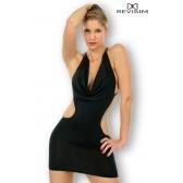 Lana Robe noire très décolletée et dos nu