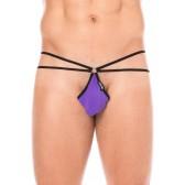 Mini string violet échancré