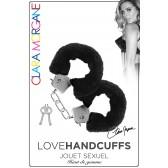 Menotte Love Handcuffs Fourrure Noire