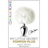 My Little Secret Pompon Plug Blanc