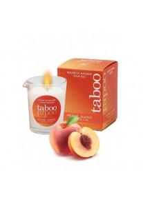 Taboo Bougie massage Gourmande pour Elle Pêche sucre