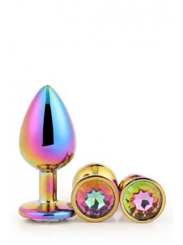 Boite 3 Gleaming Love  Bijou Plug irisé multicolor 21784  S-M-L