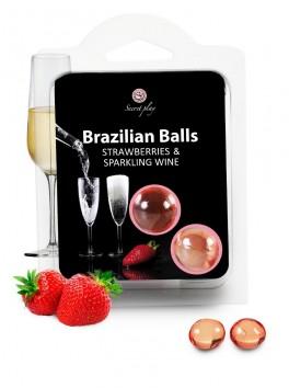 Boules Bresiliennes aromatisées vin pétillant fraise X2