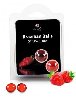 Boules Bresiliennes aromatisées fraise X2