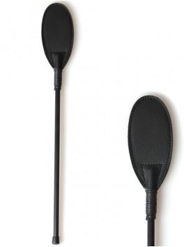 Cravache noire ovale