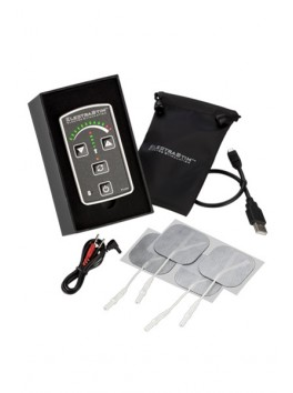 Contrôleur Electro stimulation et 4 électrodes Télécommande contrôle par LED