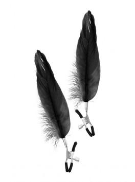 Pinces à seins plume noire