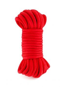 Corde bondage rouge douce 10m