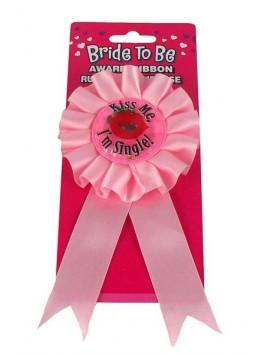 Cocarde rose Kiss Me. I'm single