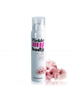 "Mousse crépitante massage ""Tickle My Body"" Fleur de Cerisier"