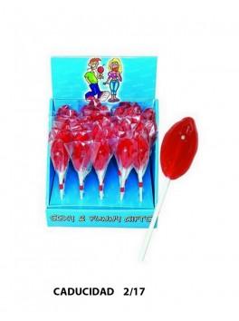 Sucette Sexe Féminin Fruits Rouges