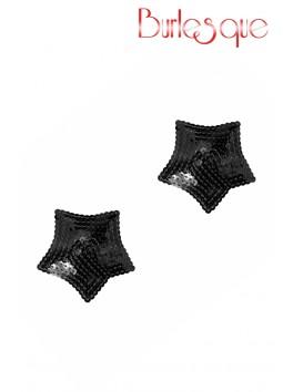 Nipple Tempest étoile sequin Noir Réutilisable