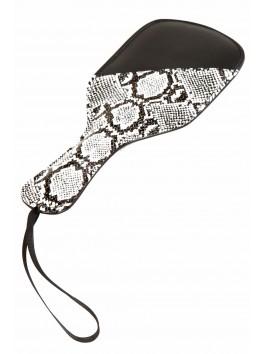 Paddle tapette aspect cuir et serpent