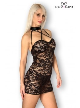 Lea Robe dentelle bordée wetlook