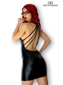 Lily Robe noire wetlook dos nu