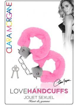 Menotte Love Handcuffs Fourrure Rose