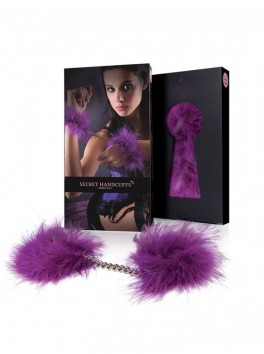Menottes duvet violet
