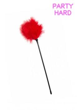 Longue plume duvet rouge