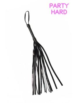 Fouet martinet noir PVC 45 cm