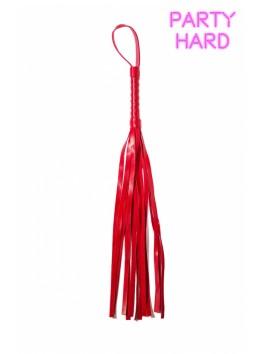 Fouet martinet rouge PVC 45 cm