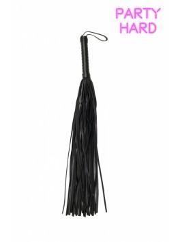 Martinet fouet noir rivets PVC 70 cm