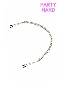 Pinces à tétons réglage anneaux avec chaine