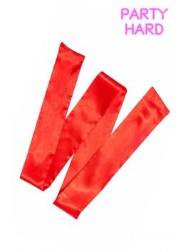 Bandeau satiné rouge