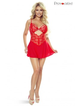 Instant Lovers Babydoll rouge Ouverte ou pas ...